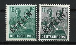 Berlin Mi 7 A Und B Postfrisch - Unused Stamps
