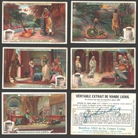 Liebig - Vintage Chromos - Series Of 6 / Série Complète - Nala Et Damayanti, Conte Hindou - En Français - Liebig