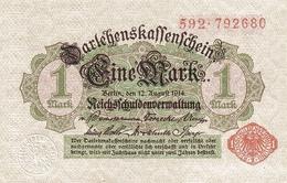 GERMANY P.  51 1 M 1914 AUNC - [ 2] 1871-1918 : Impero Tedesco