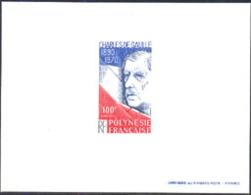 FRENCH POLYNESIA (1980) De Gaulle. Deluxe Sheet. Scott No 340, Yvert No 159. - Geschnitten, Drukprobe Und Abarten