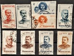 MADAGASCAR 1946 - Canceled - YT 308, 309, 312, 313, 314, 315, 316, 317, 318 - Used Stamps