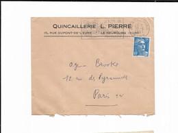 1955 Quincaillerie L. PIERRE LE NEUBOURG ( Eure ) - Marcofilie (Brieven)