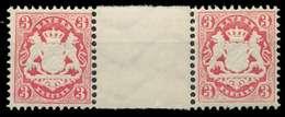 BAYERN WAPPEN-AUSGABE 1875 Nr 33ZW Postfrisch ZW-STEG P X86F3DE - Bayern