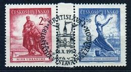 CSSR 1952 Michel: 766-767 Used - Checoslovaquia