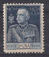 REGNO D'ITALIA 1925-26 GIUBILEO DEL RE V.EMANUELE III SASS. 190 MNH  XF   DENTELLATURA 11 - Nuovi