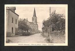 53 - GRAZAY - Route De Jublains - L'Eglise - Les Ecoles - 1936 ,#53/005 - Other Municipalities