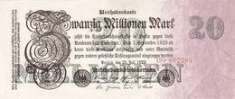 GERMANY P.  97b 20 000 000 M 1923 UNC - [ 3] 1918-1933 : República De Weimar