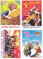 North Korea 2020 Happy New Year Postal Card  5V - Corea Del Nord