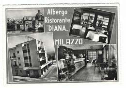 2189 - ALBERGO RISTORANTE DIANA MILAZZO 4 VEDUTE 1950 CIRCA - Messina