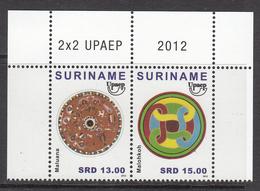 2012 Surinam Suriname America Issue  Pair  Complete  MNH - Surinam