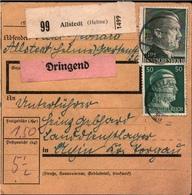 ! 1943 Paketkarte Deutsches Reich, Allstedt A.d. Helme An Landdienstlager Im Kreis Torgau - Allemagne