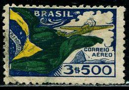 AY0509 Brazil 1933 Airplane Flag 1V Used - Brazilië