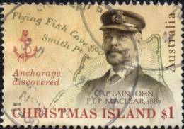 2019 CHRISTMAS ISLAND Captain John FLP MacLear VERY FINE POSTALLY USED $1 Stamp - Christmas Island