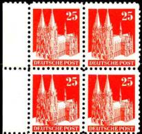 Allemagne Zone Anglo-Américaine Poste N** Yv:55 Mi:87eg Kölner Dom Bloc De 4 Bord De Feuille - Zona Anglo-Americana