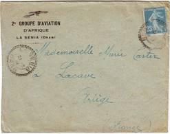 AVIATION MILITAIRE Guerre De 14 Lettre De LA SENIA ALGERIE Belle Entete - Poststempel (Briefe)
