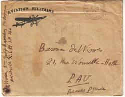 AVIATION MILITAIRE Guerre De 14 Lettre ESCADRILLE NS 81 , Belle Entete , Texte Du Baron De Wismes - Poststempel (Briefe)