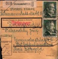 ! 1943 Paketkarte Deutsches Reich, Litzmannstadt Nach Gräfenhainichen, Lager - Briefe U. Dokumente