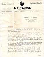 HISTOIRE DE L' AVIATION Lettre AIR FRANCE 1935 Raid CODOS Et ROSSI .... Voir Signatures - Marcophilie (Lettres)