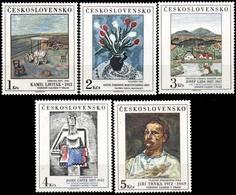 ** Czechoslovakia - 1987 - Mi. 2933-7 - Paitings - Nuovi