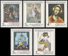 ** Czechoslovakia - 1991 - Mi. 3102-6 - Paitings - Nuovi