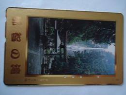 JAPAN USED CARDS   LANDSCAPES GOLDEN - Japon