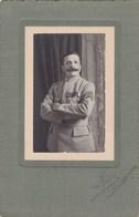 Photographie Sur Carton - Soldat 101ème Régiment D'Infanterie à Paris (75) - Officier - Identifié ? - Krieg, Militär