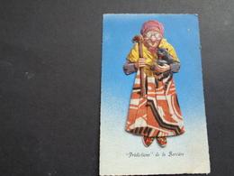 Carte ( 755 ) De Fantaisie  Fantasie Thème : Materiaalsoort  -  Opgeplakte Poësieprent Met Stoffen Rok - Sorcière  Heks - Postcards