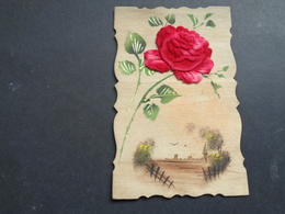 Carte ( 759 ) En Bois  In Hout -  Fantaisie  Fantasie Thème : Materiaalsoort  Matière - Postcards