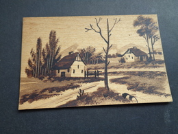 Carte ( 760 ) En Bois  In Hout -  Fantaisie  Fantasie Thème : Materiaalsoort  Matière - Postcards