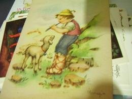 MARIAPIA ILLUSTRATA PASTORELLO E PECORA  N1940  HI2889 - Illustratori & Fotografie