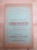 Gand Theatre William Shakespeare 1947 - Programma's