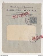 Au Plus Rapide Semeuse Sur Devant Lettre Illustrée Bonneterie Auguste Deleuze Saint Hippolyte Du Fort Gard - Poststempel (Briefe)
