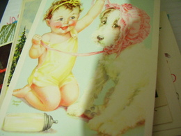 BAMBINO CHILDREN CON CANE DOG - ASILO VALFRE'ILLUSTRATA  CHARLOTTE BECKER  N1960  HI2898 - Illustratori & Fotografie