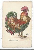 Illustration Chantecler Coq Humanisé - Animaux & Faune