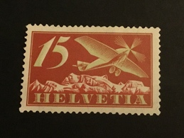 Suisse 1923 Poste Aérienne 15 Centimes Rouge Neuf - Neufs