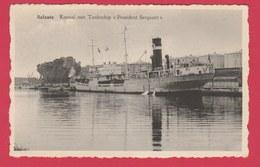"""Zelzate - Kanaal Met Tankschip """" Président Sergeant """" ( Verso Zien ) - Zelzate"""