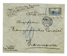 1916 Brief Mit Türk. Marken Wegen Türkischer Zensur, Durch Botschaft Bestellt - Offices: Turkish Empire