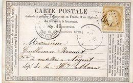 G.C.683 BUZANCAIS (35) Sur N°55L.A.C. Du 1/8/75;carte Précurseur. - Postmark Collection (Covers)