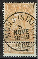 65 Obl  Mons (Station) + 8 - 1893-1900 Schmaler Bart