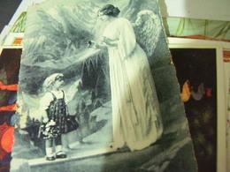 ANGELO  BELLA RAGAZZA E BAMBINA V1918   HI2912 - Angeli