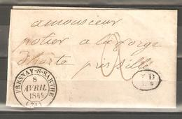 Lot  1369   //    Lettre  A/C --  GRAND CAD FRESNAY -S-SARTHE - France