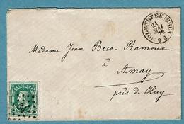 30  Lettre Obl LP 64 Molenbeeck (BXL) + 4  Ca Amay  + 8 - 1869-1883 Léopold II