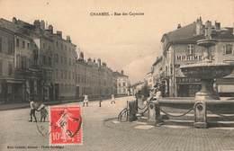 88 Charmes Rue Des Capucins Cpa Carte Animée Commerce Imprimerie Edit Mme Croisier Cachet 1913 - Charmes