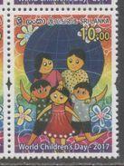 SRI  LANKA, 2017, MNH, WORLD CHILDREN'S DAY ,1v - Childhood & Youth