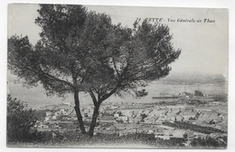 SETE - CETTE EN 1917 - N° 24 - VUE GENERALE DE THAU - ARBRE - LEGERS PLIS ANGLES EN HAUT - CPA VOYAGEE - Sete (Cette)