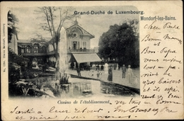 Cp Mondorf Les Bains Bad Mondorf Luxemburg, Casino De L'etablissement - Postales
