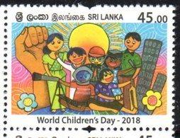 SRI LANKA , 2018, MNH,WORLD  CHILDREN'S DAY,  1v - Childhood & Youth