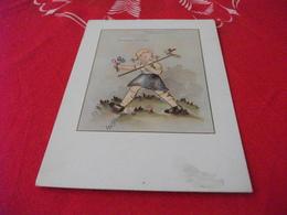 ILLUSTRATORE SIGLA WB BAMBINA CON UCCELLO E FIORI - Illustratori & Fotografie