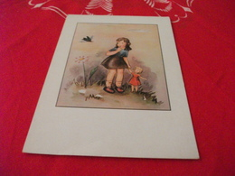 ILLUSTRATORE SIGLA WB BAMBINA CON INFANTE  INSETTO PIEGA - Illustratori & Fotografie