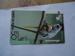 JAPAN USED CARDS ANIMALS MONKEY - Japon